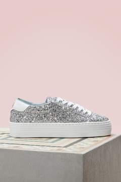 Chiara Ferragni Silver glitter sneakers