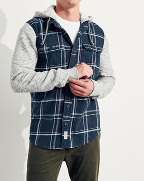 Hollister Hooded Flannel Shirt