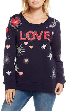 Chaser Love Patchwork Sweatshirt