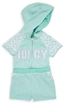 Juicy Couture Little Girl's Floral Lace Hooded Romper