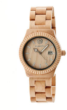 Earth Wood Pith Khaki Bracelet Watch With Date Ethew1801