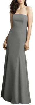 Dessy Collection Women's Strapless Crepe Trumpet Gown
