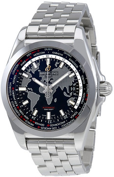 Breitling Galactic Unitime World Time Automatic Black Dial Men's Watch