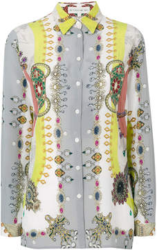 Etro jewel print shirt