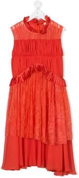 Elisabetta Franchi La Mia Bambina TEEN lace panelled dress