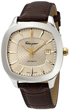 Salvatore Ferragamo Time Champagne Guilloche Dial Automatic Men's Watch