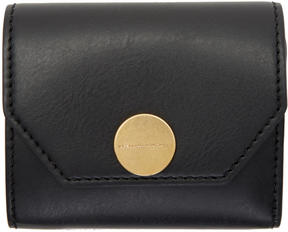 Stella McCartney Black Flap Wallet