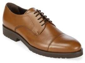 a. testoni Leather Cap Toe Derby Shoes