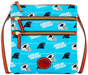 Dooney & Bourke Carolina Panthers Nylon Triple Zip Crossbody - BLACK - STYLE
