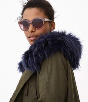 LOFT Marbleized Round Sunglasses