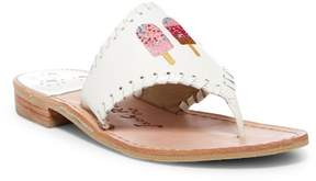 Jack Rogers Ice Cream Pops Embroidered Thong Sandal