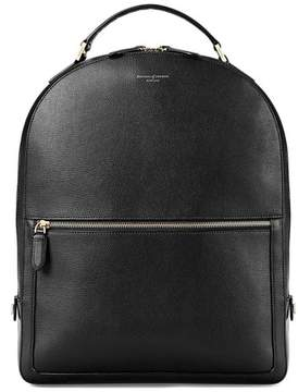 Aspinal of London Large Mount Street Backpack In Black Pebble