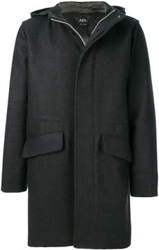 A.P.C. hooded buttoned coat