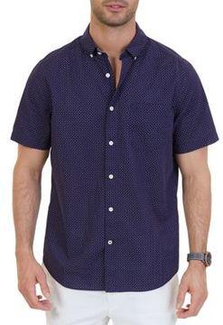 Nautica Classic Fit Dot Print Button-Down Shirt