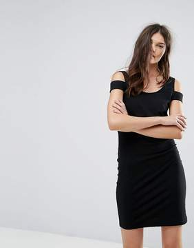 Noisy May Bodycon Dress with Shoulder Detail