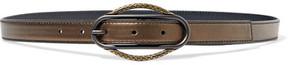 Bottega Veneta Metallic Leather Belt - Bronze