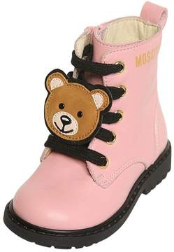 Moschino Teddy Bear Nappa Leather Ankle Boots