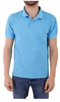 Sun 68 Men's Light Blue Cotton Polo Shirt.