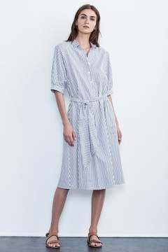Velvet by Graham & Spencer PENELOPE COTTON STRIPE SHIRT DRESS