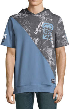 Ecko Unlimited Unltd Short Sleeve French Terry Hoodie