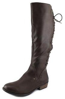 Rampage Heleana Women Round Toe Synthetic Brown Knee High Boot.