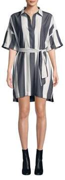 Calvin Klein Jeans Popover Striped Cotton Dress