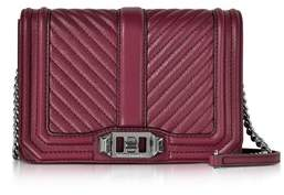 Rebecca Minkoff Women's Burgundy Leather Shoulder Bag. - RED - STYLE