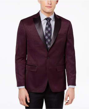 Ryan Seacrest Distinction Men's Modern-Fit Burgundy Textured Dinner Jacket, Created for Macy's