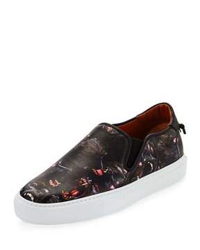 Givenchy Monkey Brothers Leather Skate Shoe, Black