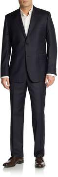 Saks Fifth Avenue BLACK Men's Slim-Fit Shadow-Stripe Wool Suit