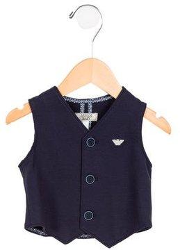 Armani Junior Boys' Knit Button-Up Vest w/ Tags