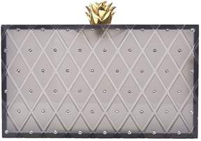 Charlotte Olympia Grey Plastic Clutch Bag