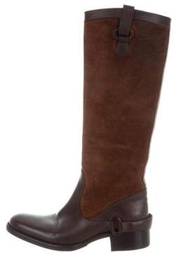 Sartore Knee-High Suede Boots