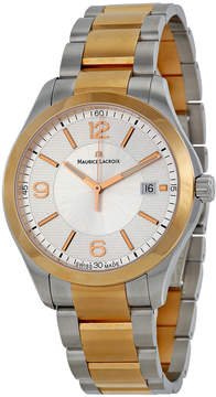 Maurice Lacroix Miros Date Silver Dial Two Tone Steel Men's Watch