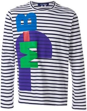 Junya Watanabe striped graphic print top