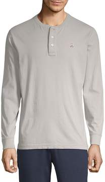 Psycho Bunny Men's Long-Sleeve Cotton Henley
