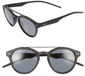 Polaroid Women's 50Mm Polarized Retro Sunglasses - Matte Black
