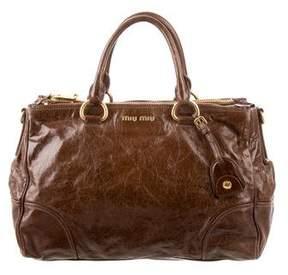 Miu Miu Leather Double Zip Bag