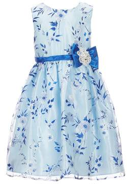 Jayne Copeland Little Girls 2T-6X Sleeveless Floral-Print Dress