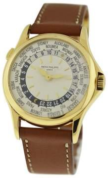 Patek Philippe World Time 5110J 18k Yellow Gold Mens Watch