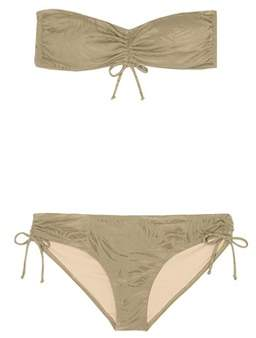 Prism Fortalenza jacquard bandeau bikini set