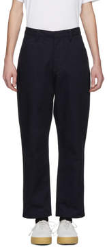 Acne Studios Navy Aleq Trousers