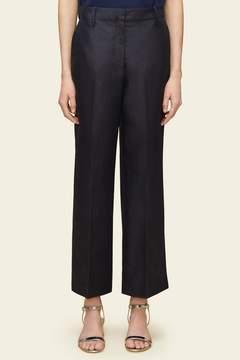Mansur Gavriel Silk Shantung Straight Pant