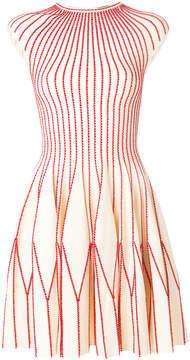 Alexander McQueen mini plissé knit dress