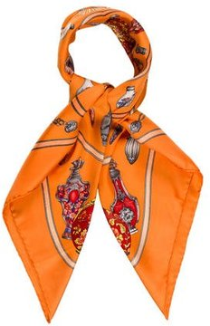 Hermes Qu' Importe Le Flacon Silk Scarf