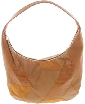 Nine West Womens Faux Leather Patchwork Hobo Handbag