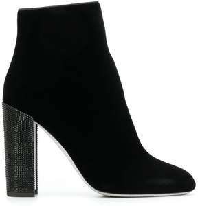 Rene Caovilla jewelled heel ankle boots