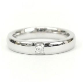 Damiani Veramore 18K White Gold & 0.07ct. Diamond Ring Size 4
