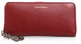 Alexander McQueen Leather Zip Wallet