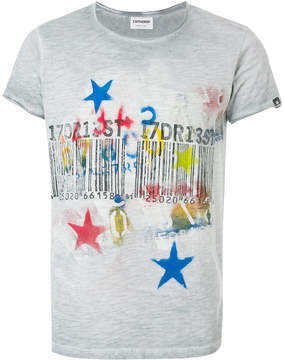 Converse bar code star print T-shirt